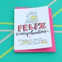 Tarjeta de feliz cumpleaños - Prometo no llamarte señora