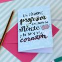 Tarjeta de felicitación Profesor