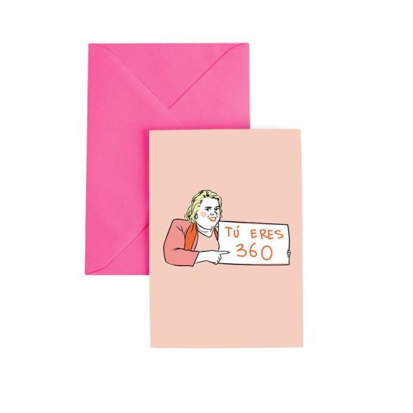 Tarjeta de felicitación Paquita
