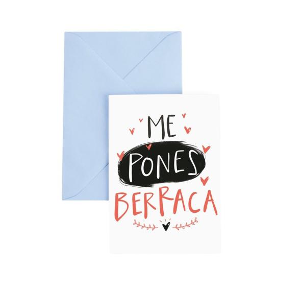 Tarjeta de felicitación LOVER Berraca