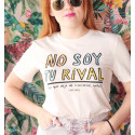 Camiseta orgánica - No soy tu rival