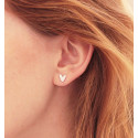 Pendientes doble Loves Rocks de plata