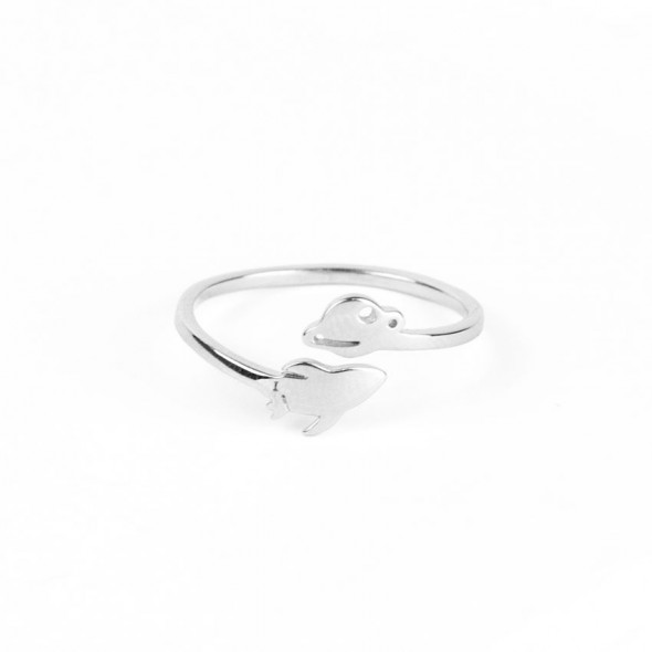 Anillo de plata Fly me to Saturn