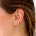 Pendientes ear cuff Shooting star de plata