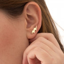 Pendientes ear cuff Thunder de plata