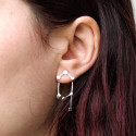 Pendientes doble Constellation de plata