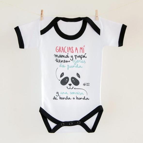 Body bebé Ojeras de panda