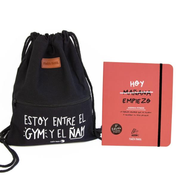 Pack Agenda Fitness + Mochila Gym Ñam