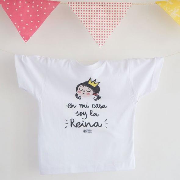 Camiseta infantil Soy la Reina