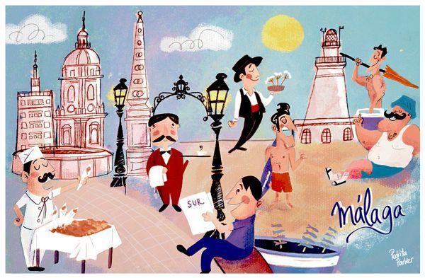 Postal de Málaga